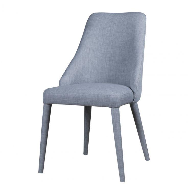 Gestoffeerde stoelen Berit I (2-delige set) - geweven stof/metaal - Stof Konya Lichtgrijs