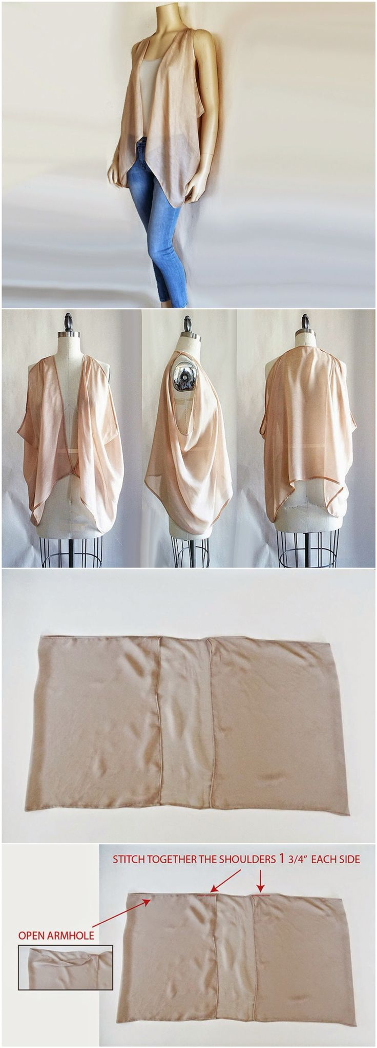 Vest from Scarf Upcycled