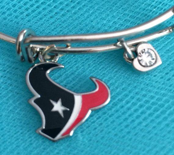 Texas Texans bracelet; Texas Texans charm; Texas charm bracelet; NFL bracelet; football bracelet; football charm bracelet