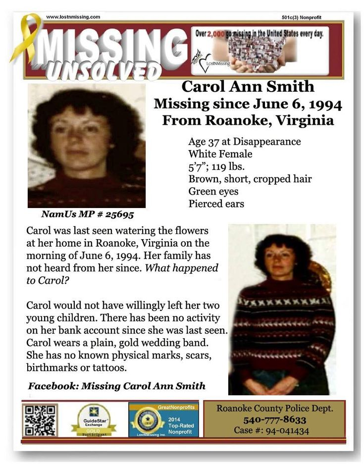 Find Missing Carol Ann Smith!