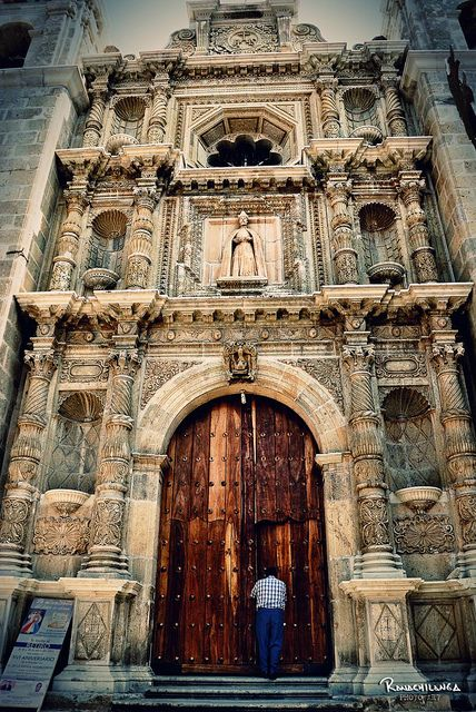 This is the beautiful church of San Felipe Neri in Oaxaca, Mexico
