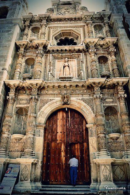 Iglesia de San Felipe Neri, Oaxaca by Rene Ortega