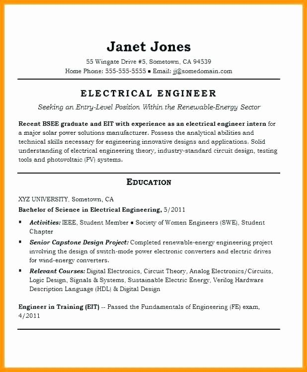 Electrical Engineering Student Resume Lovely Fr 1616 Circuit Design Engineer Engineering Design Engineering Student Engineering Resume Student Resume