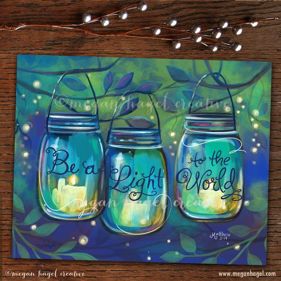 Be a light to the world & Let your light shine Scripture Quote Word Art by MegNGrace