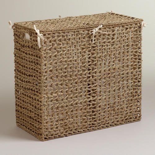 One of my favorite discoveries at WorldMarket.com: Natural Seagrass Divided Hamper