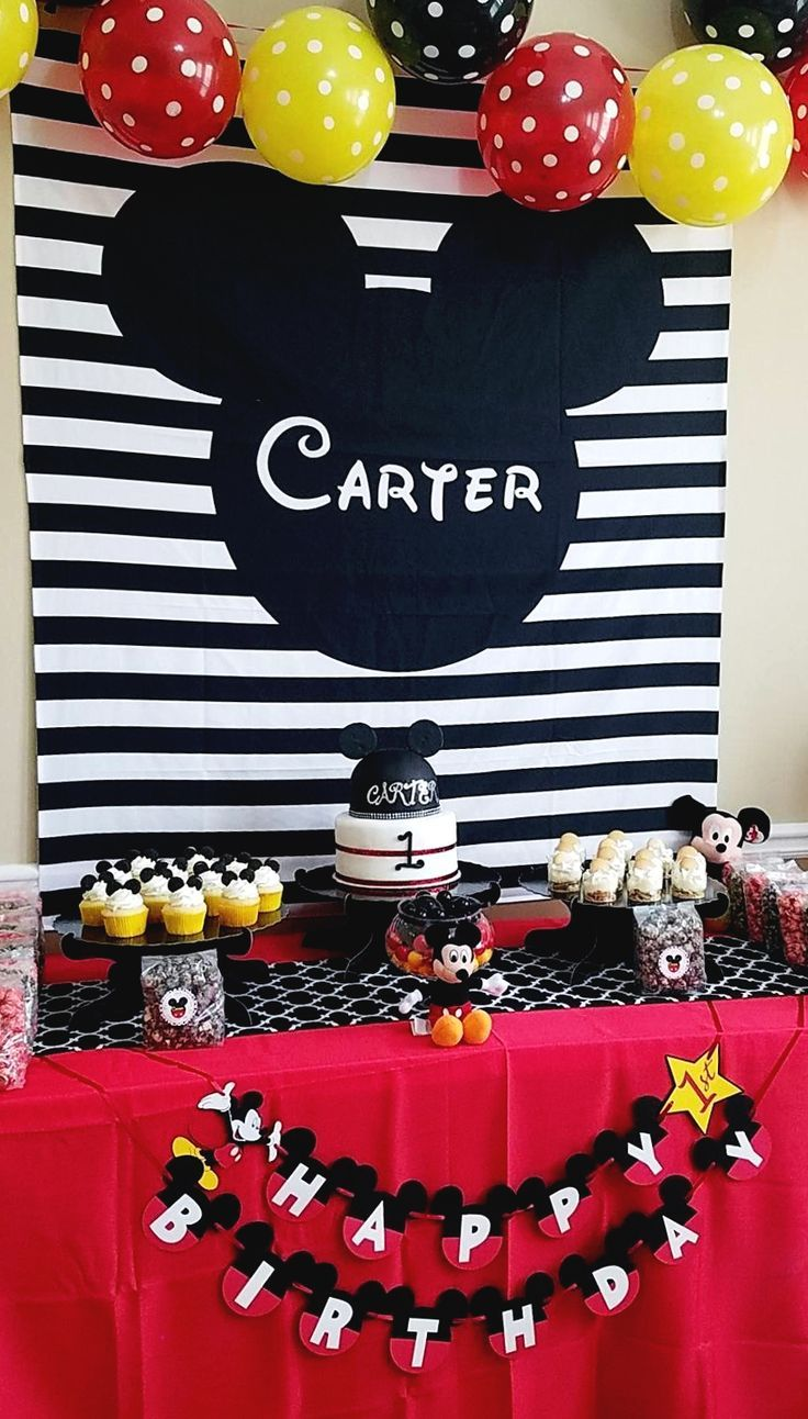 Mickey mouse clubhouse birthday backdrop for your kid