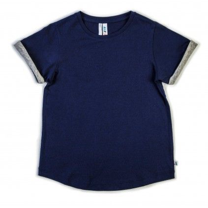 Roll Sleeve Tee - Navy