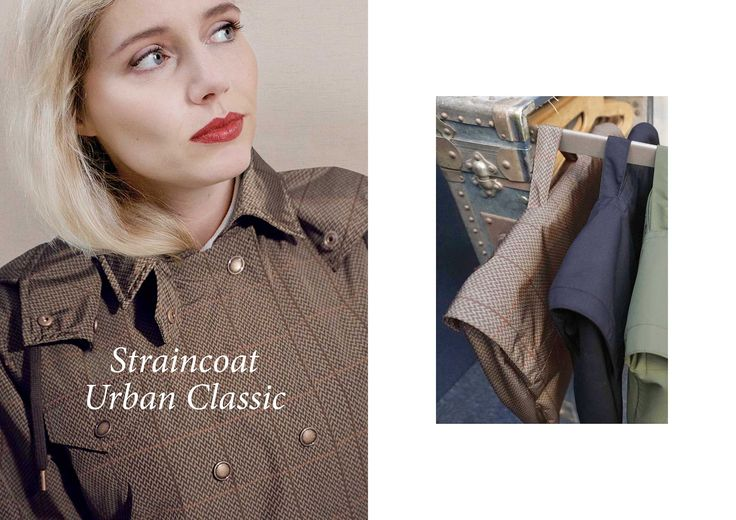 WATERDICHT Amsterdam  Straincoat Urban Classic, stylish raincoat