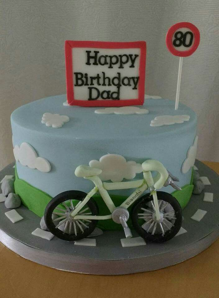 Bicycle theme birthday cake