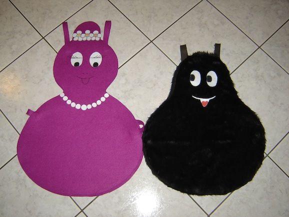 Costumi carnevale fai da te: Barbabella e Barbabarba del cartone Barbapapà