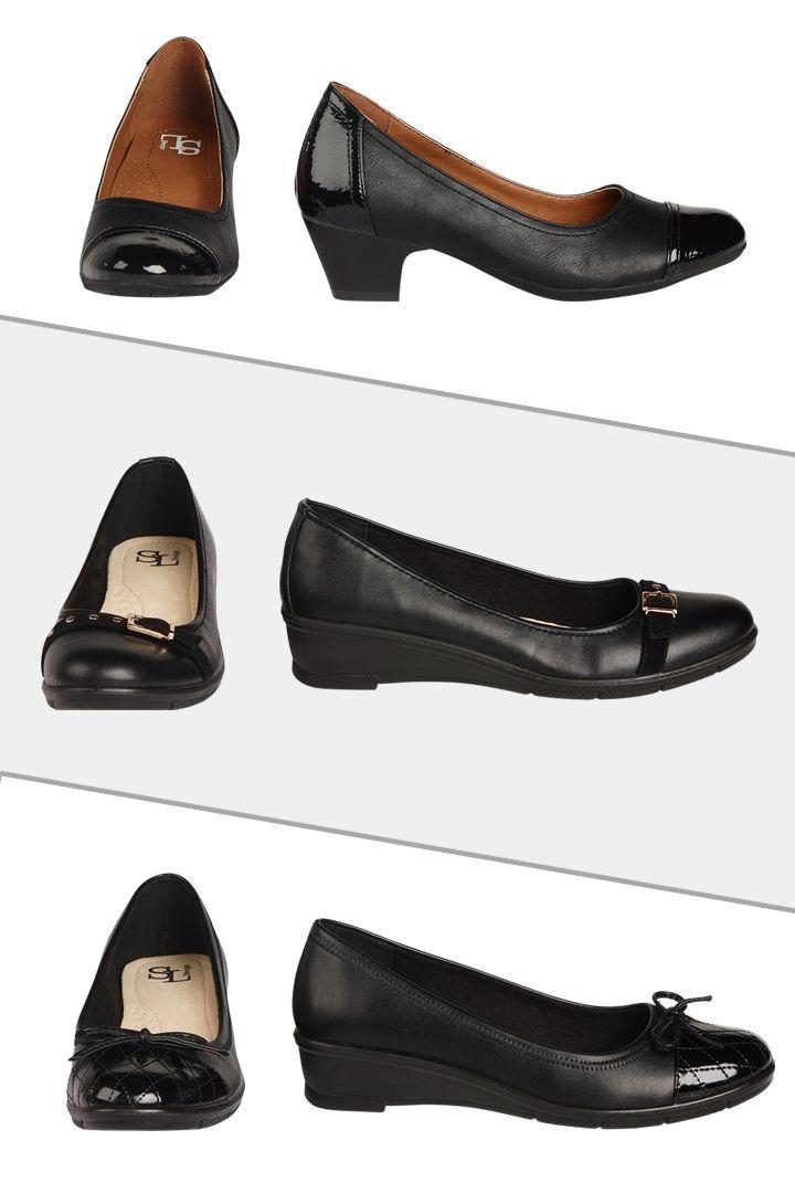 Souliers avec petits talons #soulier #noir #talon
