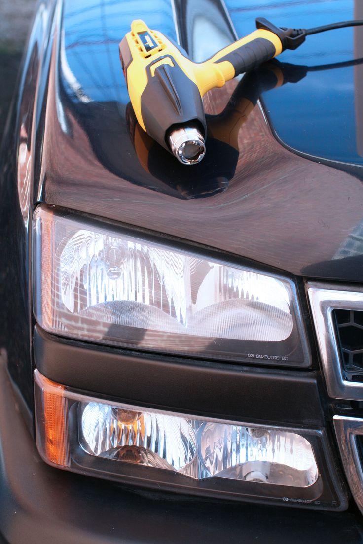 How to fix foggy car headlights with a heat gun.