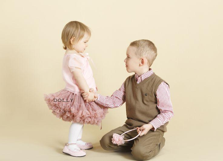 lovely girl in lovely skirt with brother :)