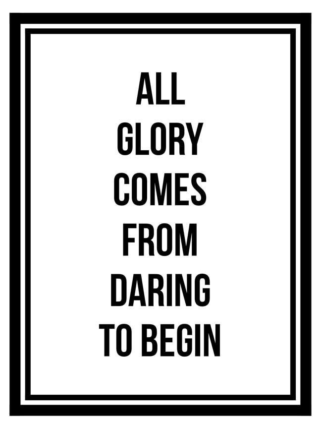 Daring to Begin