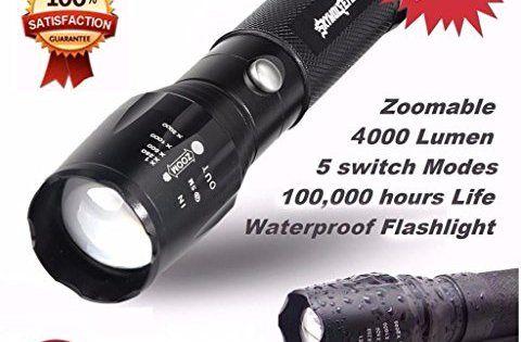 Lampes torches, Tonsee Militaire Lampe 5000LM G700 torche tactique LED X800 Zoom Super Bright: Marque: Sky Eye Loup. Nombre d'émetteurs: 1.…