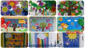 Collage decoraci n primavera 1 350 200 for Decoracion primavera infantil