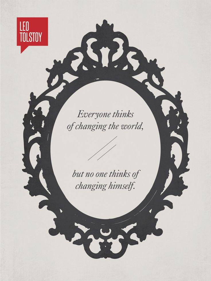 Minimalist Poster Quote Leo Tolstoy
