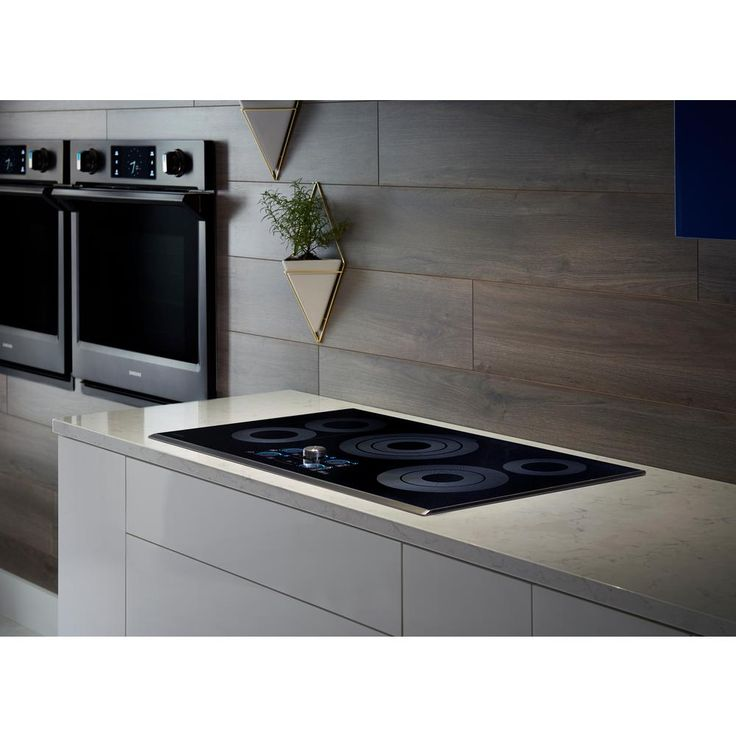 Samsung 36 in. Ceramic Electric Cooktop in Black Stainless with 5 Elements including Rapid Boil with WiFi-NZ36K7570RG - The Home Depot