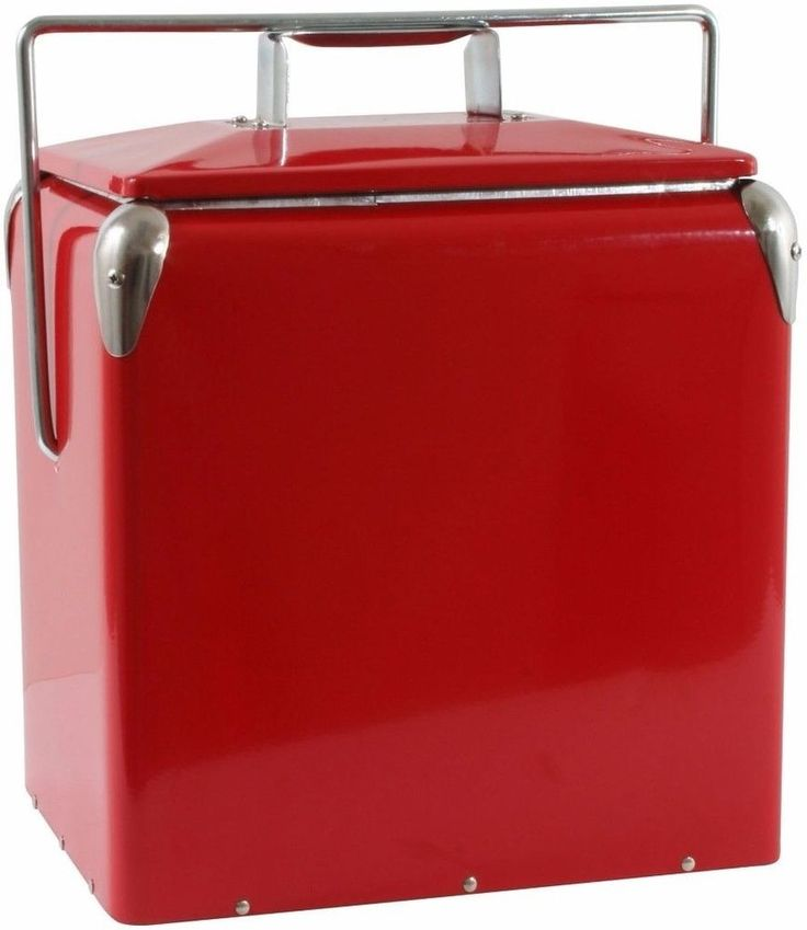 Buffalo Tools Picnic Cooler with Built-in Bottle Opener Red Stainless Steel #BuffaloTools
