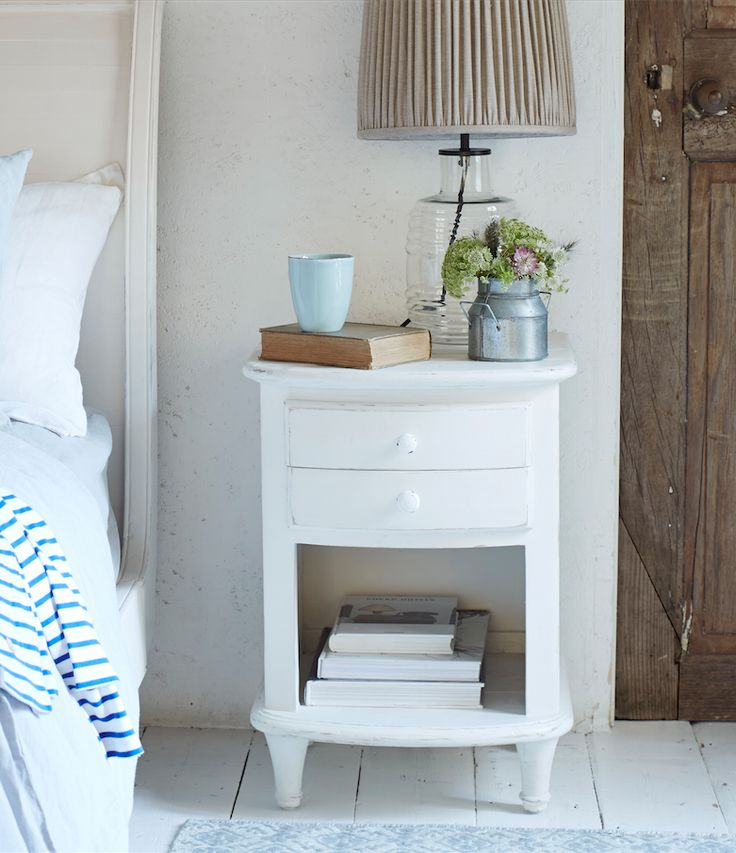 Loaf's All-White bedside table in a nice chalky white heritage paint