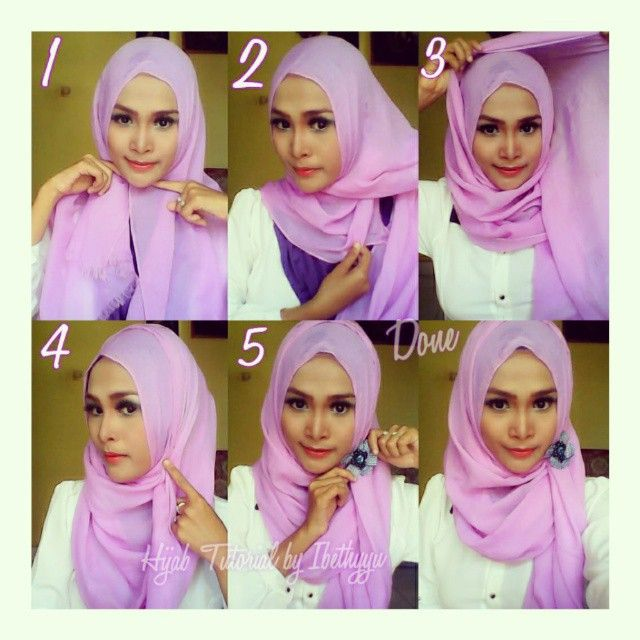 This is a quick easy and beautiful hijab tutorial anyone can create, it can easily adapt to the face shape, you can either wear it directly on your head or use an underscarf. Here are the steps for this look 1.…