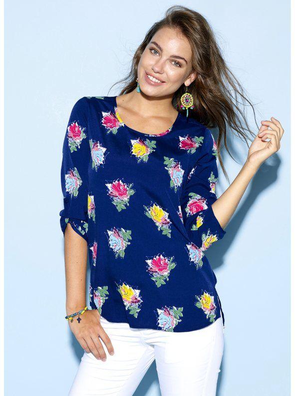 Blusa camisa mujer estampada de flores