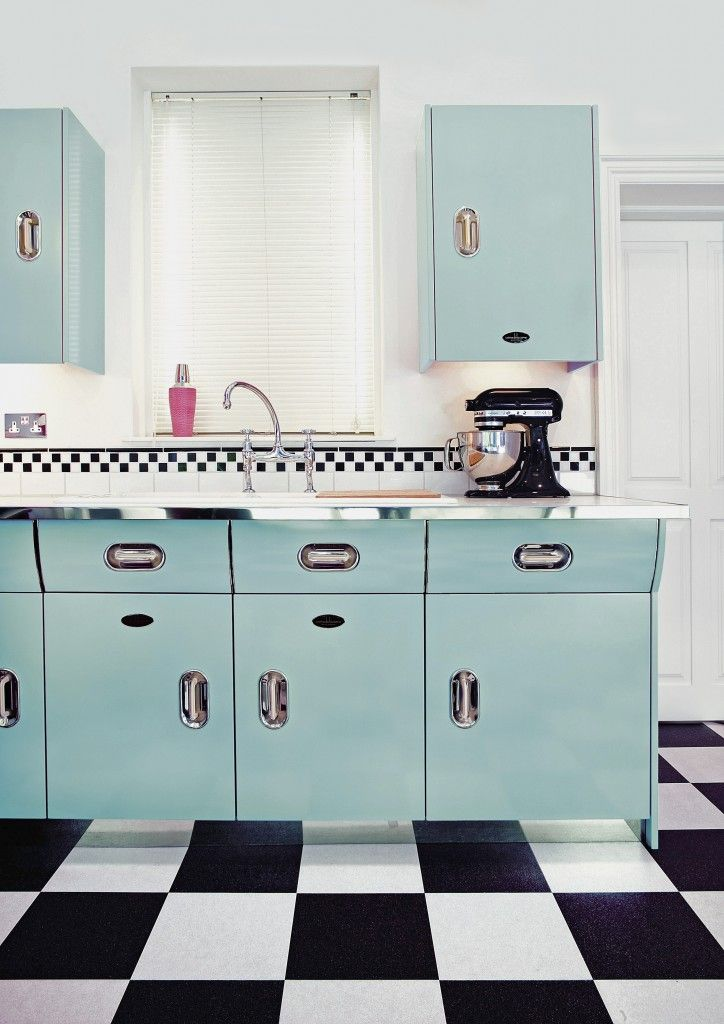 vintage inspired kitchen as featured on kate beavis vintage home blog