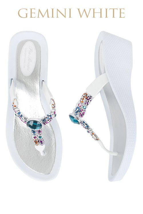 Gemini Ultimate Pool Shoe - White Base  Available from www.piarossini.com #PiaRossini #UltimatePoolShoe #Pool #Shoes #Sandal #Beach #Cruise #Comfort #Resort