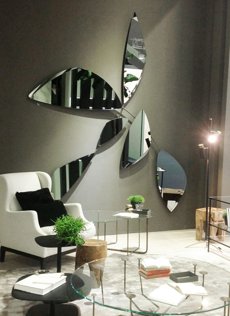 Leaf, mirrors designed by Ricardo Bello Dias for Gallotti&Radice