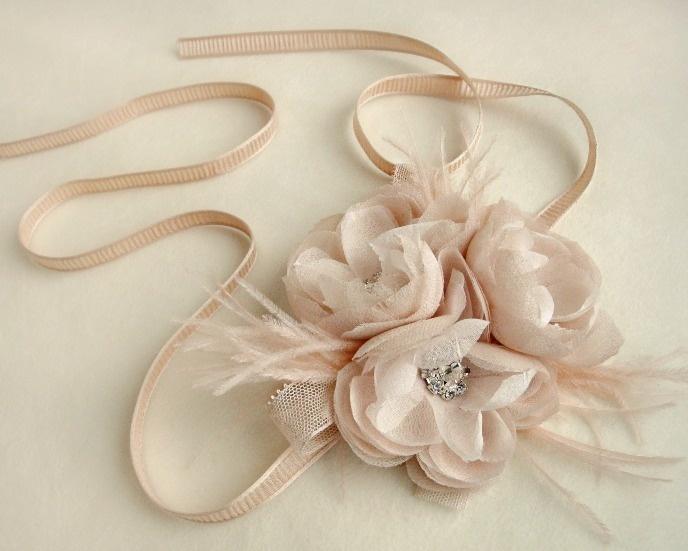 floral bridal hair piece