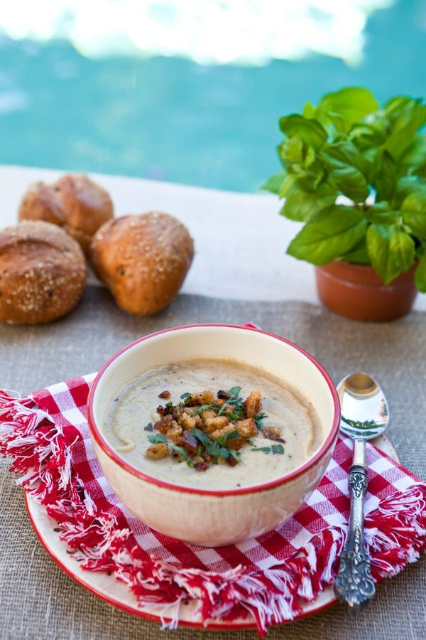 Italian Food Forever » Roasted Cauliflower Soup