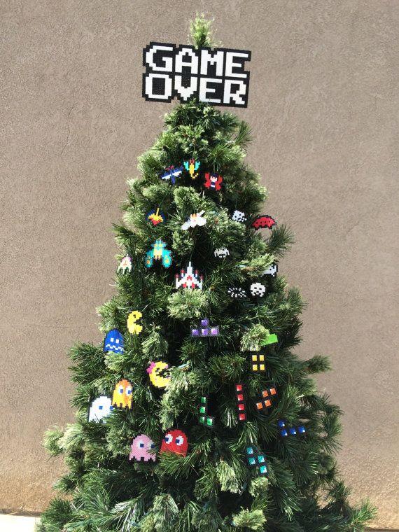 Déco de Noël   Pixel Art   Perles Hama   Retro-gaming