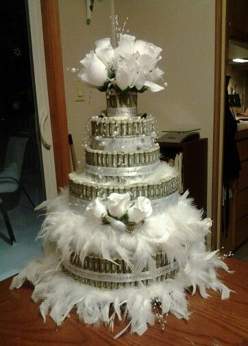 Money cake ...Bridal shower gift I made for my daughter
