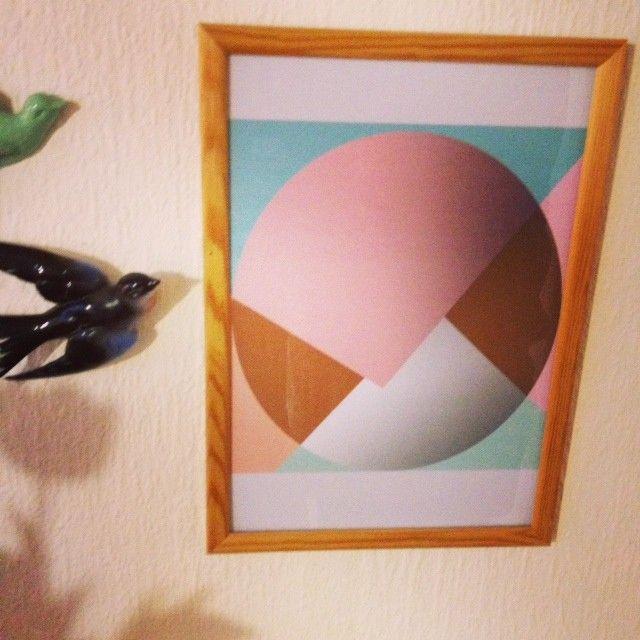 apartment no.12 poster- A4- cirkel og pasteller uden ramme