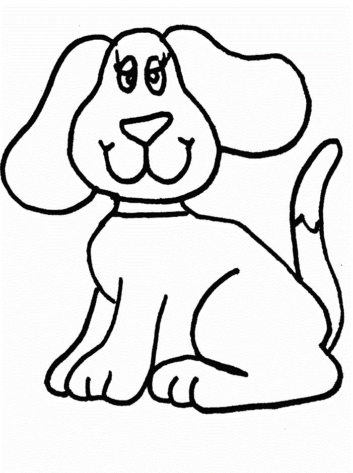 Small Dog With Big Ears Coloring Pages For Kids Printable Dogs