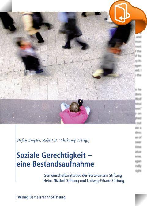 Soziale Gerechtigkeit - eine Bestandsaufnahme    :  Was ist soziale Gerechtigkeit? Als Ergebnis eines gesellschaftlichen Verständigungsprozesses bleiben die Antworten darauf einem ständigen Bedeutungswandel unterworfen. Durch die politische Gestaltung zeitgemäßer sozialstaatlicher Institutionen müssen sie laufend neu gewonnen und gesichert werden. Auch der deutsche Sozialstaat befindet sich seit Mitte der 90er Jahre im Umbruch von einem alimentierenden Wohlfahrtsstaat hin zu einem akti...