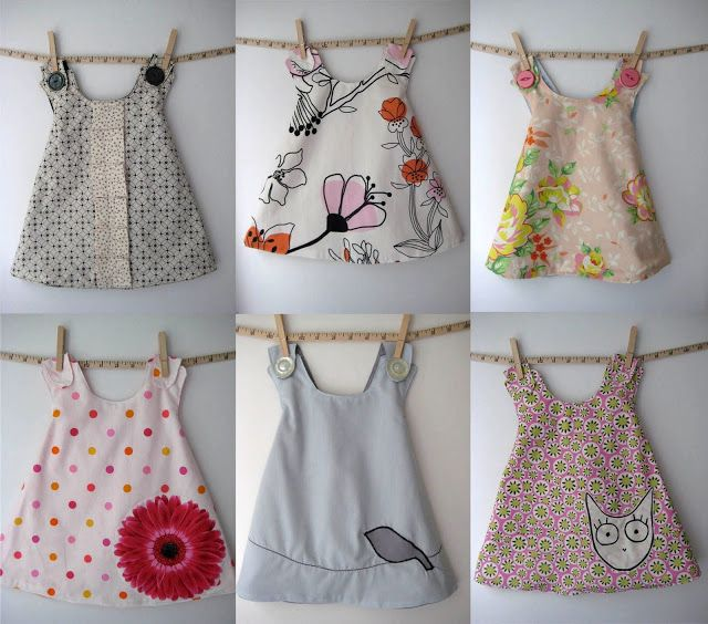 I want to make mini dresses on a pillow for my granddaughter - wouldn't these be so cute?....dresses - see kate sew
