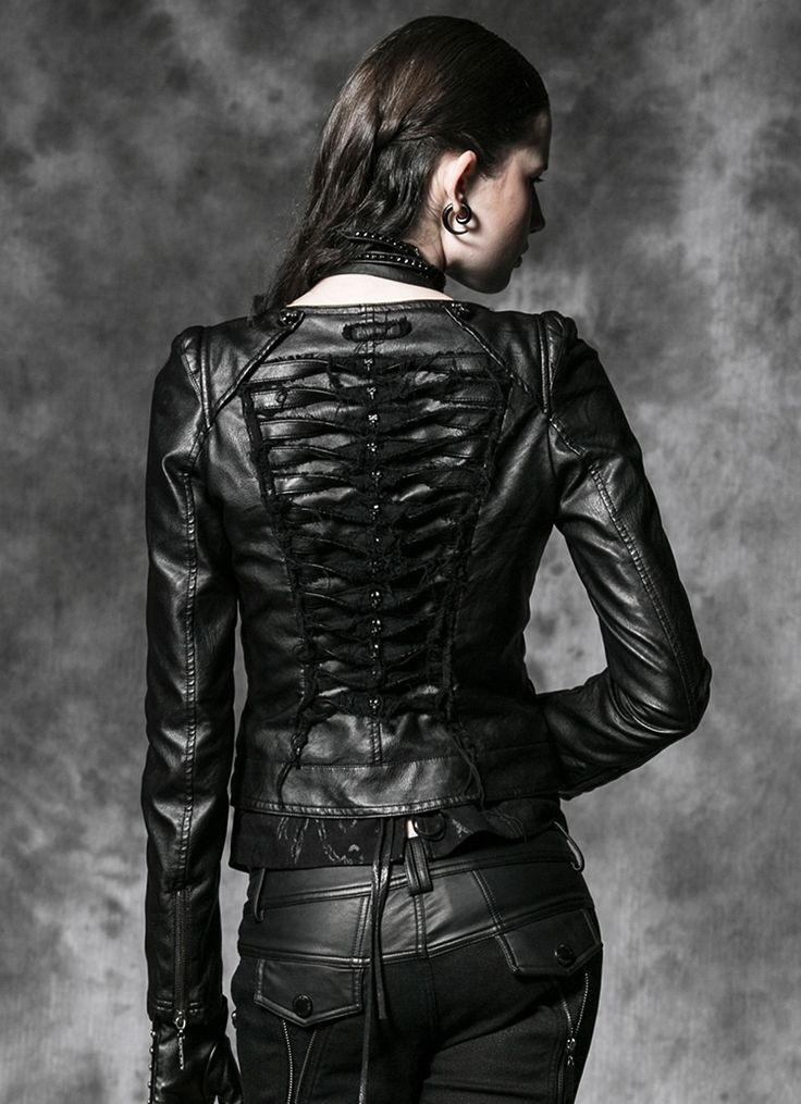 blouson gothique femme en simili cuir punk rave gifts. Black Bedroom Furniture Sets. Home Design Ideas