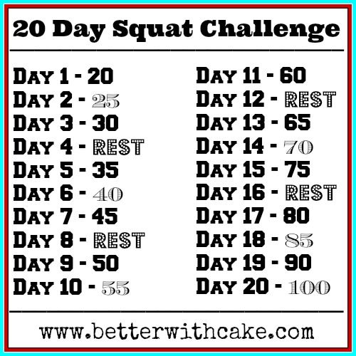 Fit Friday Fun – 20 Day Squat Challenge | Better with Cake