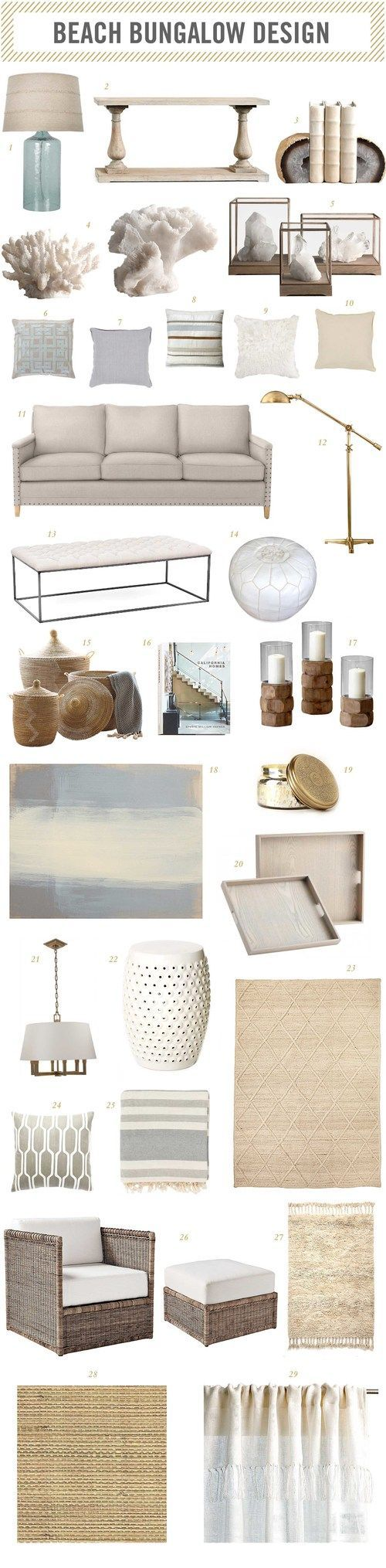 | beach bungalow room design |