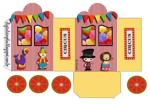 The Circus: Princess Carriage Shaped Free Printable Boxes.