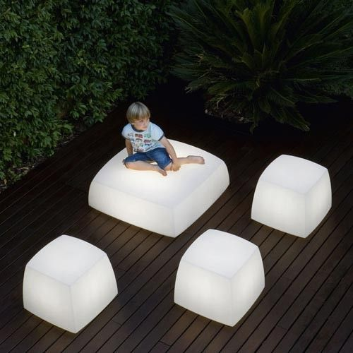 Contemporary and unique light seats design for outdoor and indoor lighting lite cube and light box contemporary garden patio living home decor gardens