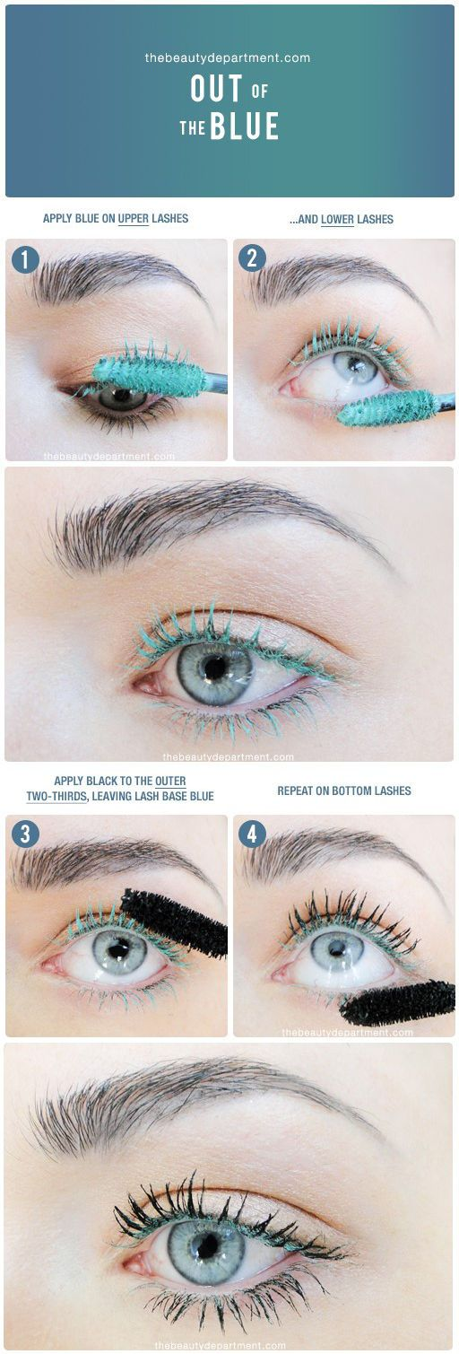 THE EYE POP    This is a subtle way to pop your eye color with colored mascara! But the trick is twofold. First you coat the lashes with the colored mascara, then you go back over them with black mascara, except you   http://thebeautydepartment.com/2016/10/the-eye-pop/