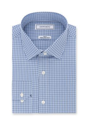 Crown & Ivy™ Men's Crown & Ivy Stretch Slim Fit Dress Shirt - Empire Blue - 16-16.5 34/35