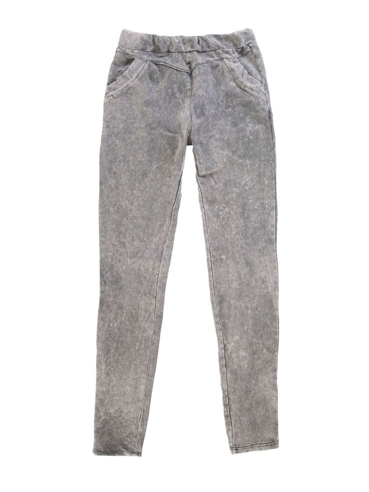 Spodnie damskie proste   - XSD0145 - odzież damska - txm24.pl jasnoszare
