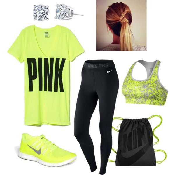 Like everything except for the earrings because who wears earrings when they are exercising?!?