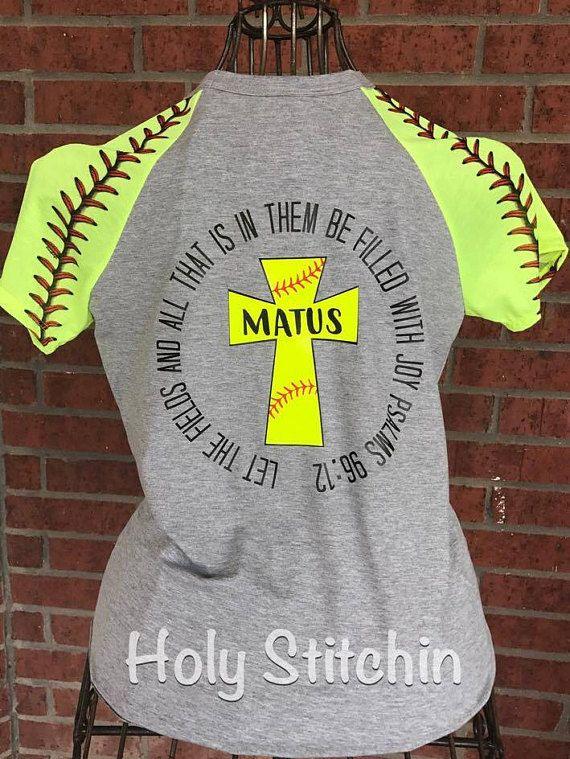Let the Fields Shirt Raglan Softball Tshirt Softball Cross
