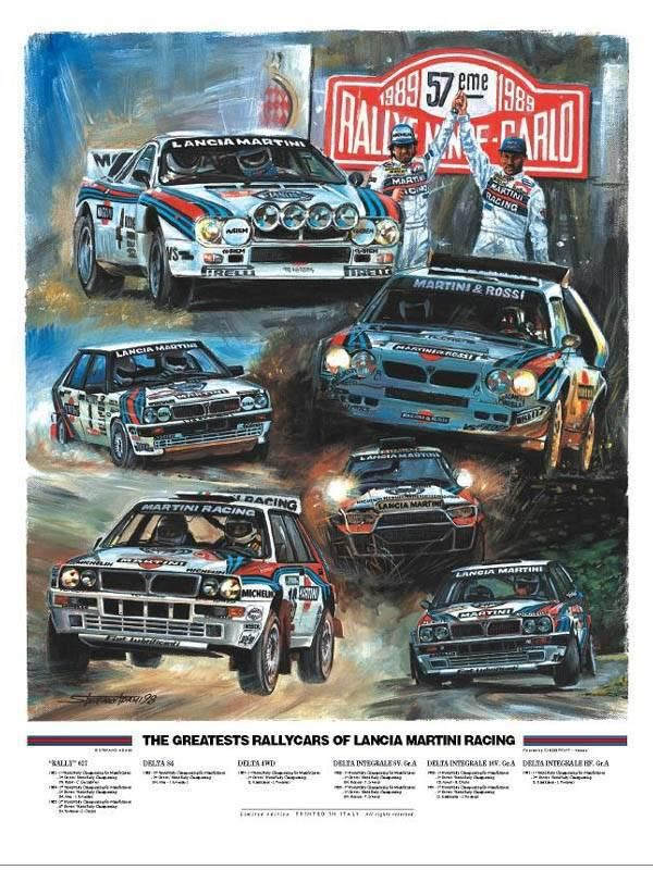 The Greatest Rally Cars of Lancia Martini Racing