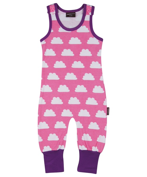Maxomorra Jumpsuit mouwloos Clouds Pink