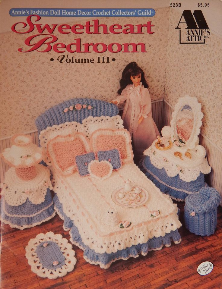 Sweetheart Bedroom Vol 3 Crochet Pattern For 11.5 Inch Doll/Annie's Fashion Doll Home Decor Crochet Collectors/furniture Dresser/Slight Odor by RedWickerBasket on Etsy
